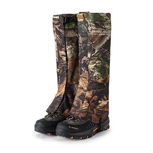 Waterproof Hiking Boot Gaiters Breathable Snow Gaiters, Outdoor Trekking Camo Gaiters for Men and Women ()