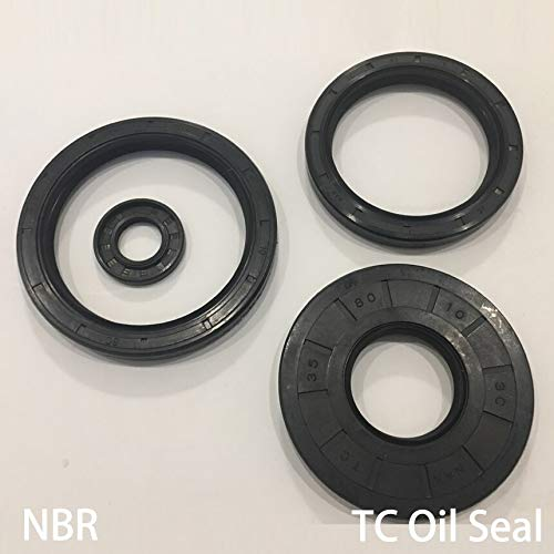 (Gimax 30557/8/10/11/12 30x55x7/8/10/11/12 Nitrile Rubber NBR Two Double Lip Spring TC Ring Gasket Radial Shaft Skeleton Oil Seal - (Size: 30x55x7))