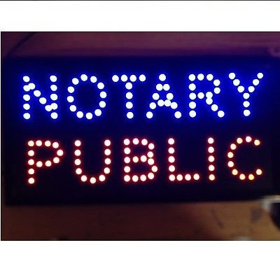 UbiGear 1019 LED NOTARY PUBLIC BUSINESS SIGN On Off Switch Bright Open Light Neon NEW