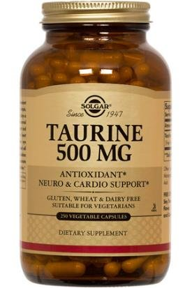 Solgar, Taurine 500 mg 250 Vegetable Capsules