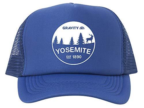 Gravity Outdoor Co. Yosemite Est. 1890 Adjustable Mesh Trucker Hat - White - ()