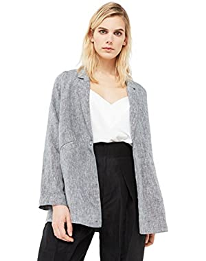 Mango Women's Structured Linen Jacket
