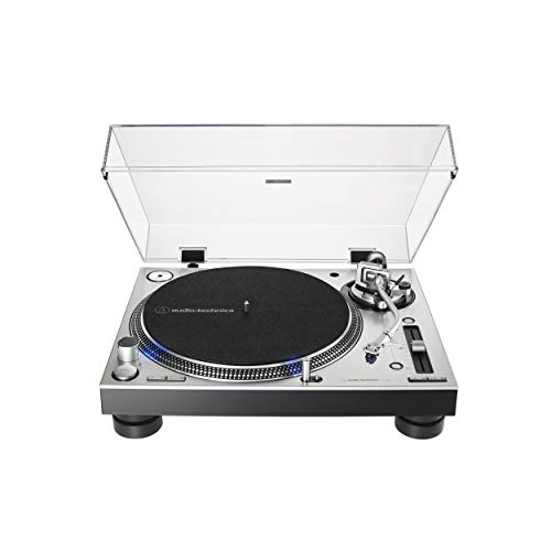 (Audio-Technica AT-LP140XP-SV Direct-Drive Professional DJ Turntable, Silver)