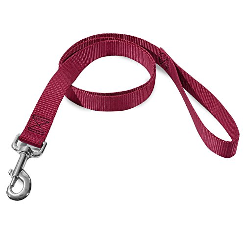 1in x 6ft Lead Dog Leash Burgundy By Majestic Pet - Pet Lead Majestic