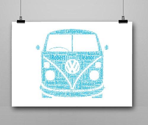 Personalized VW Camper Van Gift Keepsake Print Only Family Love Friend]()