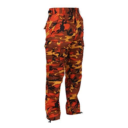 BlackC Sport BDU Pants Savage Orange Camo Military Cargo Fatigue