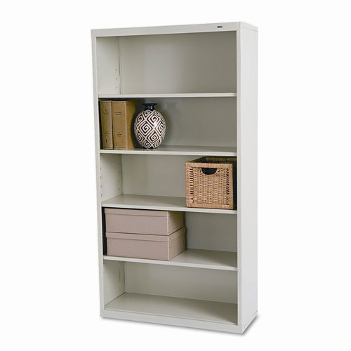 Tennsco Not Not Available Metal Bookcase with 5 Shelves, 34-1 2 by 13-1 2 by 66-Inch, Champagne Putty