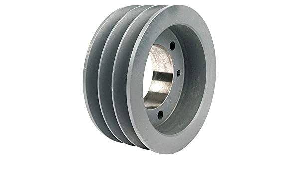 "TB WOOD/'S 343B 1//2/"" to 1-5//8/"" Bushed Bore 3-Groove Standard V-Belt Pulley 3.75/"""