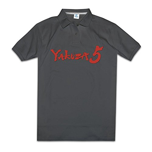 Yakuza 5 Action-adventure Game Men Polos Shirts V Neck Collared Shirts