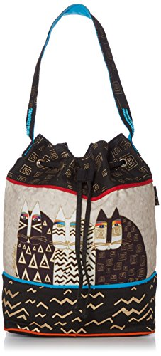Laurel Burch Drawstring Bag, 16 by 6.5 by 15-Inch, Wild Cats by Laurel Burch