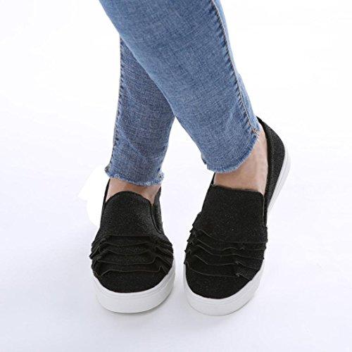 Kopf Schuhe Elegante Flache Wildleder Runde Schwarz Schuhe Schuhe Schuhe Große Schuhe Einzelne Damenschuhe Schuhe Spitze Schuhe Weibliche Schuhe friendGG Schuhe Freizeitschuhe x7Xzz4