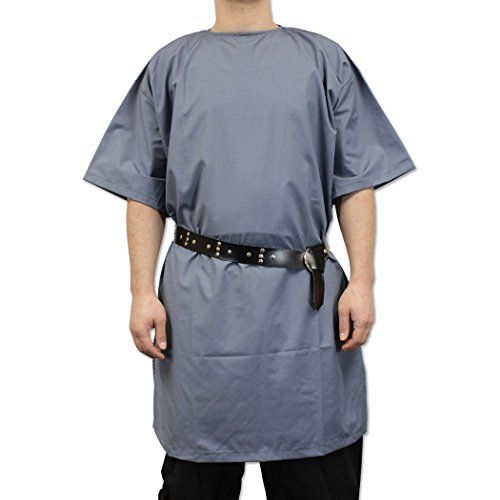 Ready for Battle Medieval Peasants Tunic Short Sleeved Faded Blue]()