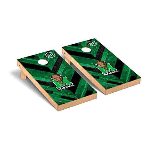 - Victory Tailgate Marshall Thundering Herd OHT NCAA - Herringbone Design Cornhole Board Set - 2 Boards, 8 Bags