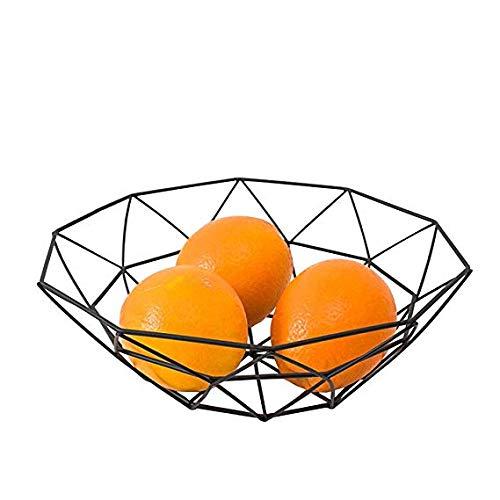 Getr/änke und Snacks lagern exquisite geometrischen Stil einfaches Design Kann t/äglich Obst und Gem/üse Yuema kreativer Obstkorb Metallkorb