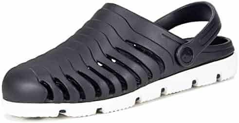 537e8d77699b Men Garden Clogs Shoes Quick Drying Slippers Beach Mules Boat Shower Sandals  Slip on Massage Outdoor