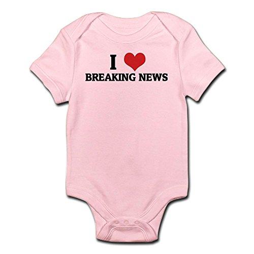 CafePress - I Love Breaking News Infant Creeper - Cute Infant Bodysuit Baby Romper