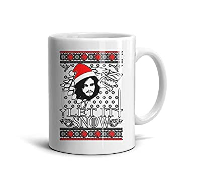 Ddiie Edd Game-of-Thrones-Winter-is-Here-Ugly-Christmas1- Mug for Coffee,Tea,Cocoa White Porcelain Ceramic Mugs Funny Travel Cups Teacup Gift Personalised