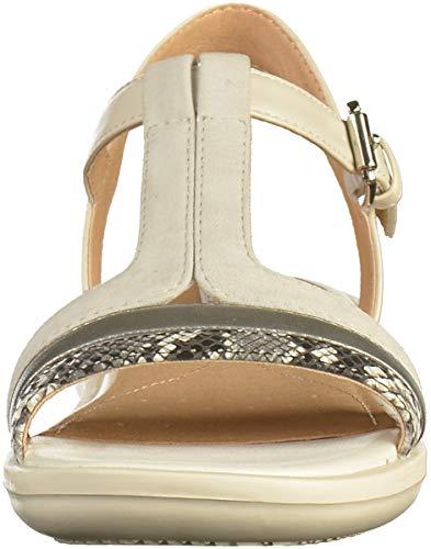 Mujer Con Para Jearl White Tira B Sandal Sandalias Geox C1351 black Off Vertical D xzwqfZcH