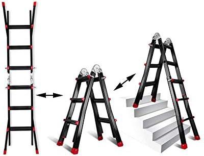 エクステンションラダー、多機能家庭用折りたたみエクステンションラダーアルミニウム合金肥厚ラダーラダーリフティングエンジニアリングラダー階段折りたたみラダー(サイズ:330CM)