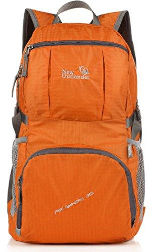 (Outlander Packable Handy Lightweight Travel Backpack Daypack,Orange)