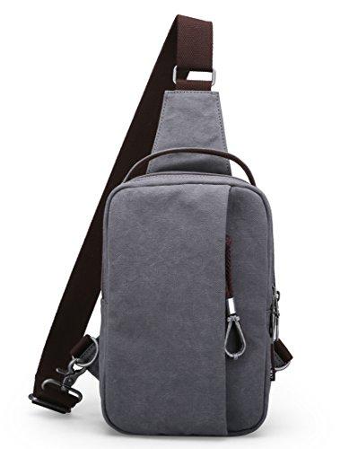 Muzee Sling Bag Chest Shoulder Gym Backpack Sack Satchel Outdoor Crossbody Bag (Cotton Sling Shoulder Bag)