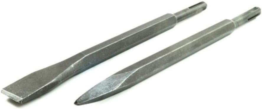 pointe et spatule burineur Fast World Shopping 2/forets pour marteau pneumatique Lot de 2/burins avec fixation SDS