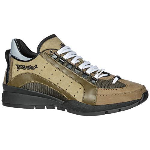551 Verde Sneakers Nuove 40 Uomo Pelle in Scarpe EU SNM040413030001M1115 Dsquared2 0nqxO5