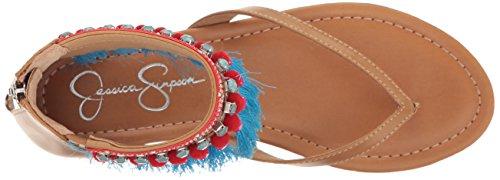 Jessica Simpson Women's Raquelle Flat Sandal, Buff, US Buff