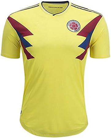 GDSQ Camiseta Colombiana 2018 Copa del Mundo Uniforme De Fútbol del Equipo Nacional De México Colombia L: Amazon.es: Deportes y aire libre