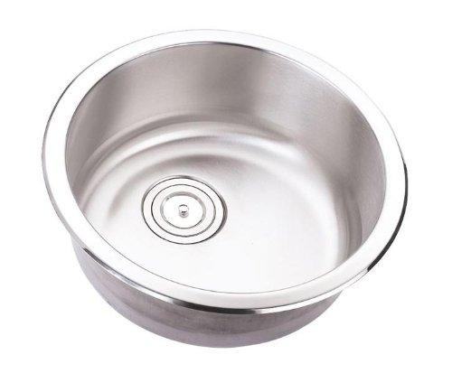 18 Inch Stainless Steel Undermount Single Bowl Kitchen / Bar / Prep Sink Round - 18 Gauge (Round Prep Sink)