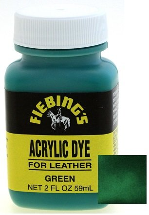 - Fiebings Acrylic Dye For Smooth Leather Water Resistant Quick Dry Green
