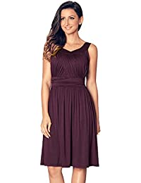 Women's Summer Elegant Vintage Sleeveless Pleated Swing...