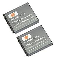 DSTE® 2x KLIC-7004 Replacement Li-ion Battery for Kodak EasyShare M2008 V1273 V1233 V1253 Zi8 Zi12 PlayFull Dual PlaySport PlayTouch Pentax Q7 Q10 Q-S1 Ricoh WG-M2 Camera as NP-50 D-li68