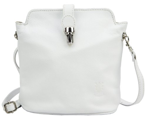 Shoulder Handbag Body Hand Leather Primo or White Strap Cross Made Italian Adjustable Sacchi Bag H74qRv