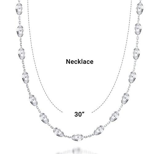 Lynora collier à perles en argent avec fermoir mousqueton