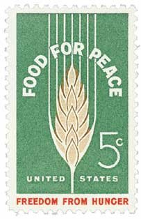 #1231 - 1963 5c Food for Peace-Freedom from Hunger U. S. Postage Stamp Plate Block (4)]()