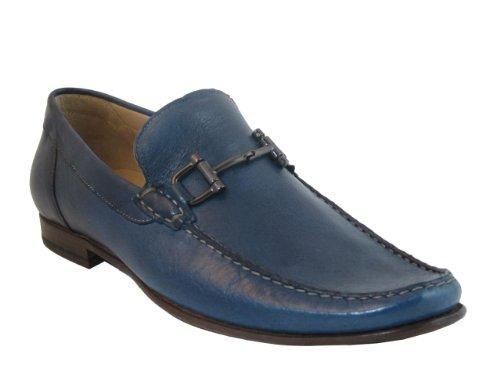 Mens Boemos 1087 Slip On In Pelle Italiana Blu