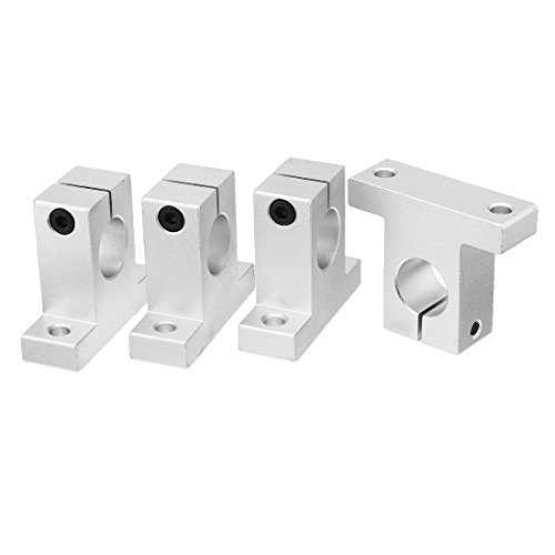 Aluminum Linear Bearing - uxcell 4pcs SK8 Aluminum Linear Motion Rail Clamping Guide Support for 8mm Dia Shaft