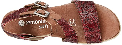 Spartiates Black Remonte Rouge Femme D6351 Chestnut fire H5SCqTz