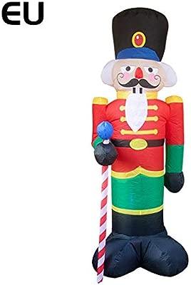 Papá Noel hinchable, gran decoración de Navidad hinchable de Papá Noel, aprox. Altura: 240 cm.