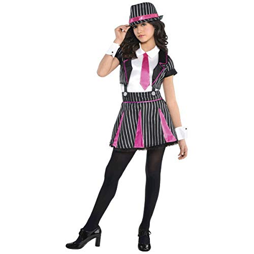(amscan Girls Mob Doll Gangster Costume - Medium (8-10),)