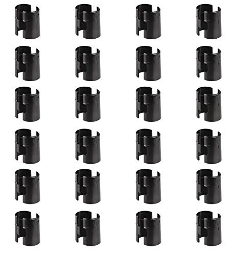 Alera Wire Shelving Shelf Lock Clips, Plastic, Black, Bundle of 24 Clips