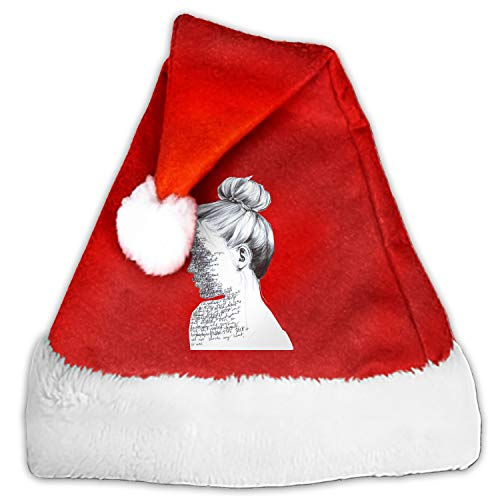 Cool Girl Santa Hat-Christmas Costume Classic Hat for Adult ()