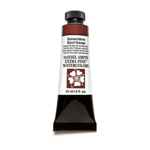 DANIEL SMITH 284600086 Extra Fine Watercolor 15ml Paint Tube, Quinacridone, Burnt Orange