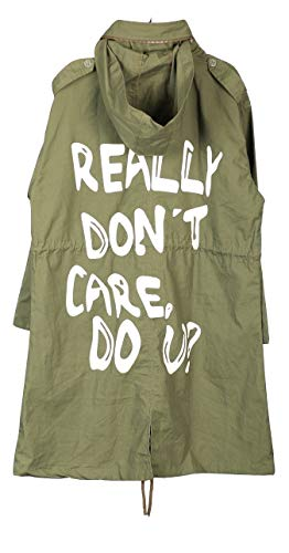 NEXT ATLANTIC Hooded Parka Army Green Jacket-I Really Don't Care Melania Trump Coat