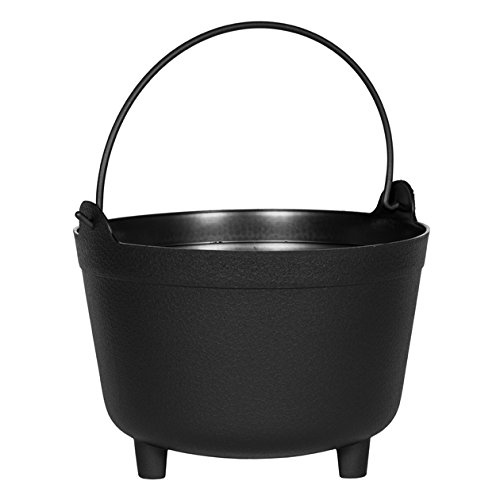 Antique Kettle Planter, Black, 15-Inch ()