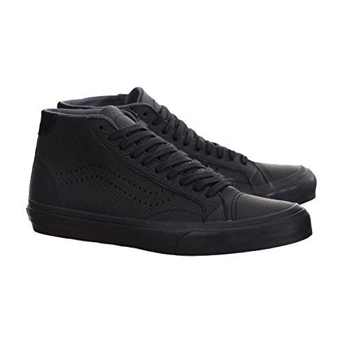 Vans Rechter Mid Dx Lederen Zwarte Womens Maat 7 Mode Skateboarden Schoenen Sneakers Sneakers