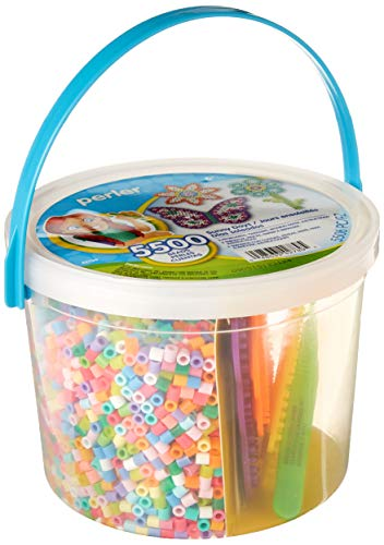 Perler Sunny Days Bright Color Fuse Bead Bucket, 5504 pcs ()