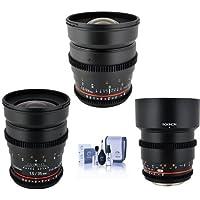 Rokinon T1.5 Cine Kit 4 Micro 4/3 Camera BUNDLE w/24mm T1.5,35mm T1.5,85mm T1.5