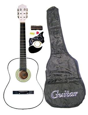 "38"" Acoustic Guitar Starter Package, Guitar, Gig Bag, Strap, Pitch Pipe Tuner & DirectlyCheap(TM) Translucent Blue Medium Guitar Pick"